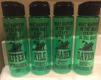 Water Bottles - Cruise - Graduation - Personalized