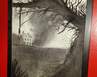 The Conjuring..... Charcoal Drawing