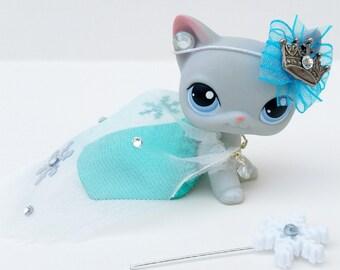 Littlest Pet Shop LPS Frozen Elsa Inspired Outfit Clothes Accessories Custom Lot