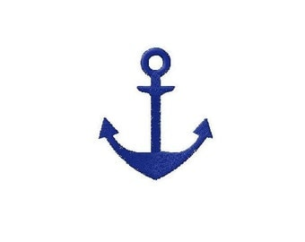Machine embroidery design Anchor Marine Navy