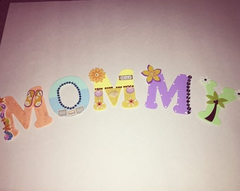 Wall letters-Mommy in beach theme