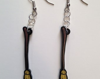 Witch's Broomstick Earrings