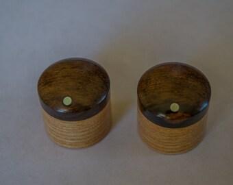 Ziricote on Ash Set of 2 custom wood guitar knobs