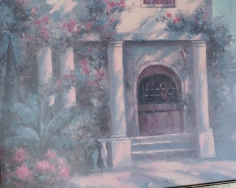 SIGNED  Florida garden painting