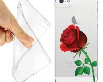 Case cover red rose flower for iphone 5 5s