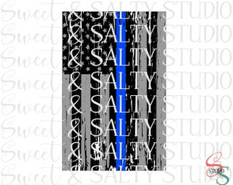 distressed police thin blue line usa flag digital file