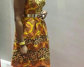 Orange Circles Dress