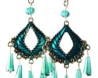 Envy Earrings #200 Teal Green Earrings