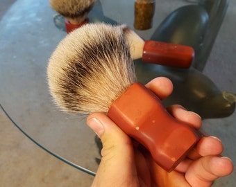 30 mm Sioux Pipe Stone Silvertip Badger Brush