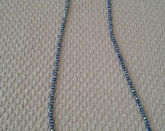 Long necklace with crystals