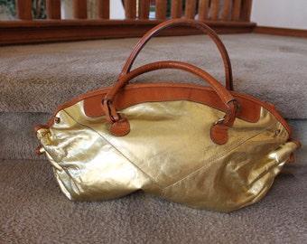 Vintage TIFFA/TILLA Gold Handbag/Purse