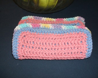 Handmade dish cloths, durable, colorful,