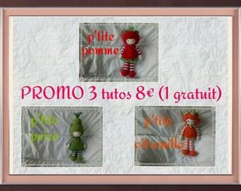 3 tutorials series doll fruit