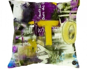 Cushion Cover Home Decor Throw Pillow Cover with Abstract Art titled King West Toronto