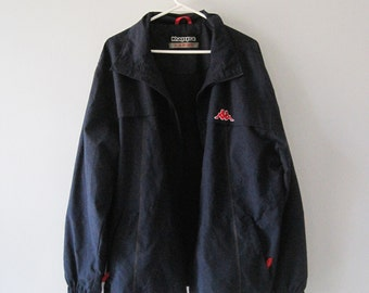 VINTAGE KAPPA Navy Blue Zipper Jacket - Size L