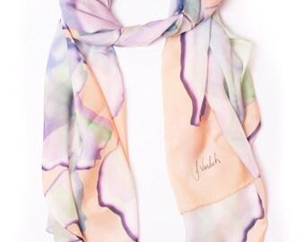 Hyper Floral Silk Scarf
