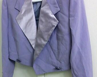 GIANNI VERSACE COUTURE Vintage Cropped Wool/Silk Jacket Blazer Sz 38/4