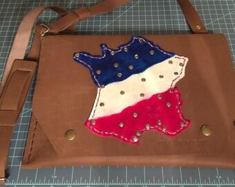 The Partisan # 5 - French Flag IPad Messenger Bag