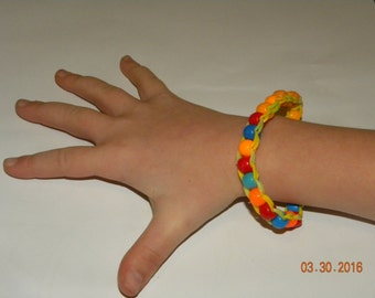 Beaded Rubber Band Bracelet