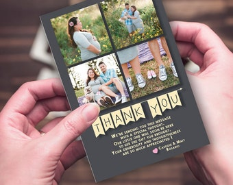 Thank You Card  - Maternity - 4 Photos