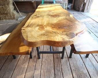 Live Edge Table + Bench Set