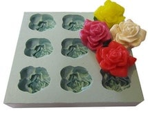Rose Mould - Silicone 9 cavity