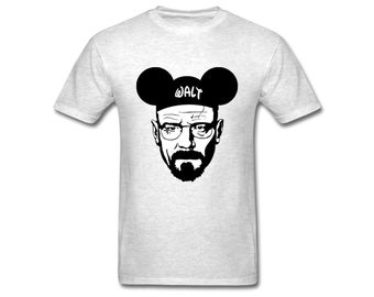 Breaking Bad Walter White Men's T-Shirt Tee Walt Disney Mickey Mouse Heisenberg