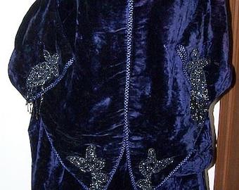 Purple Velvet Bustle Dress