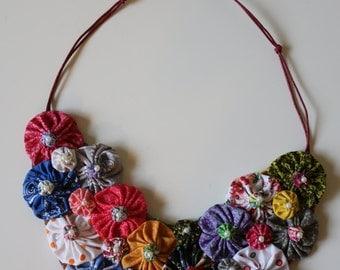 YoYo Fabric Necklace - Colar de Fuxico