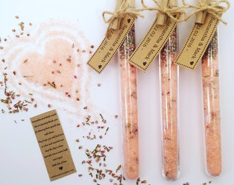 20 Personalised Wedding / Party Favour Bath Salts