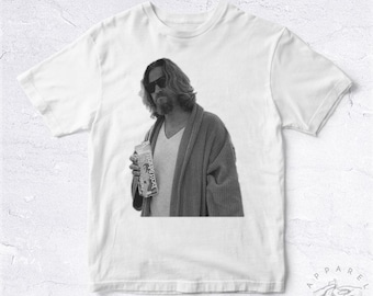 NEW Tee Shirt The Dude BIO HANDMADE Big Lebowski Joel Ethan Coen Jeff Bridges Chill Movie Bowling Chilling Calm Cool Peignoir Fan Tranquille