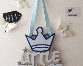 Little Prince - Princess Hanging Sign