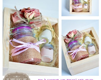 """The """"Lavender and roses"""" spa gift set, natural skin care, spa kit, gift for her"""