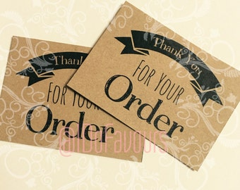 Thank for your order cards