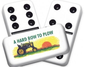 Hard Row Custom Personalized Dominoes Set