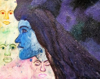 Space girls artwork