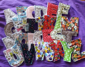 Padded Fabric Letters