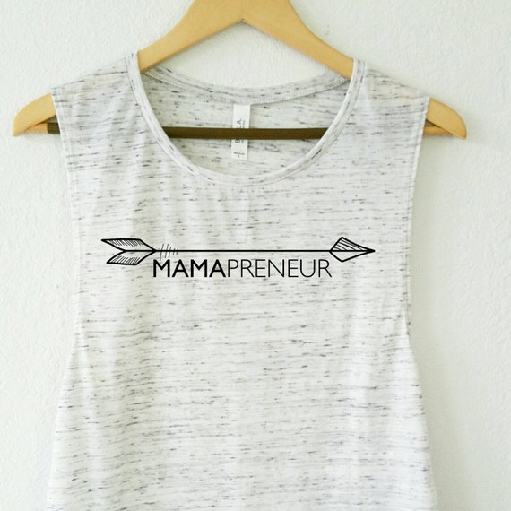 MAMAPRENEUR, White or Black Marble Tank, Mompreneur, Entrepreneur Tank, Mom Tee, Mom Gift, Mama Bird