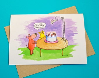 Cake Dive Birthday Card