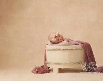 cream wooden barrel bucket tub newborn photogrpahy prop