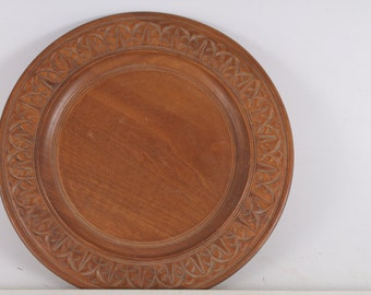 wooden  plate hand-carved