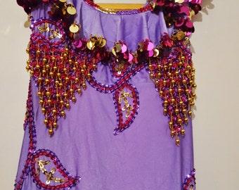 New Egyptian Melaya Leff Dress with Melaya, Oriental folklore dance Costume