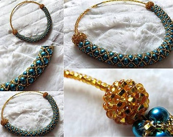 Gold-Green Necklace