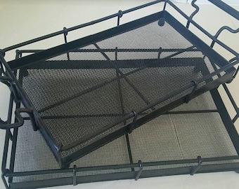 Wrought Iron Decorative Trays set of 2