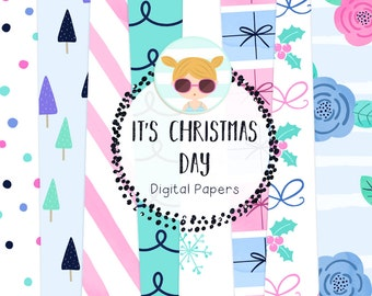 It's Christmas Day Digital Papers