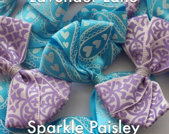 Handmade Bow Hair Clips- Pattern Collection