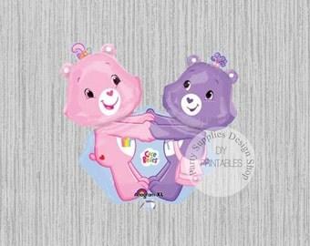 FAST SHIP Care Bears Super Shape Balloons, Care Bears Birthday Balloons, Care Bears Mylar Balloons, Care Bears Balloons, Care Bears Party