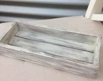 rustic mini crate, white-washed, 30cm x 13cm
