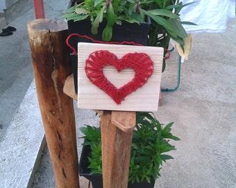 Heart - string art