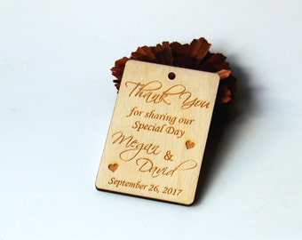 Thank you wedding tags, Wedding favor, Wedding favor tags, Wedding favor rustic, Wedding rustic, Wooden tags, Thank you tags, Wood tags